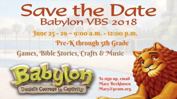 Vacation Bible School 2018  - Babylon: Daniel